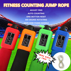PVC+Wire Rpoe Professional Adjustable Gym Sports Fitness Exercise Jump Skip Rope Skipping Wire