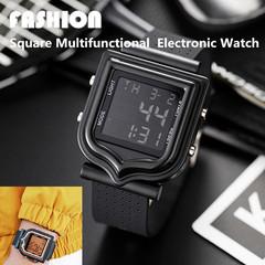 Fashion Square Night Light Electronic Watch LED Digital Watch Waterproof Quartz  Watches Watche blue