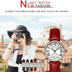 Fashion Classic Leather Belt Quartz Watch Casual Female Wristwatches Watch Women Watches black