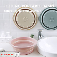 Collapsible Water Basin Portable Travel Basin Outdoor Folding Basin For Container Bathroom Kitchen beige one size