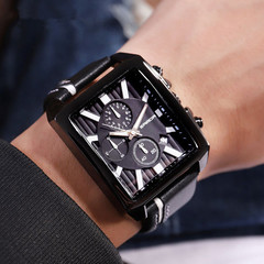 New High Quality Fashion Real Leather Belt Sport Business Quartz Watch Wristwatches Watched Watches black