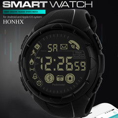 T199 Pedometer Step Calories Count Wrist Watch Sport Business Calendar Alarm 30m Waterproof Camouflage- blue