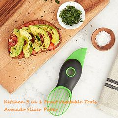 3 in 1 Fruit Vegetable Tools Avocado Slicer Pitter Splitter Slices Kitchen Accessories Cooking Tool as pic one size