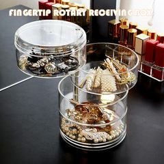 Rotating Jewelry Box Head Rope Box Hairpin Hair Ring Earrings Nail Hand Necklace Debris Storage Rack as pic one size