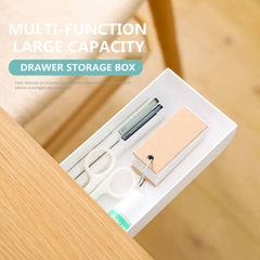 Creative Plain Color Desk Dining-Table Case With Small Drawer Storage Box Storage Box white one size