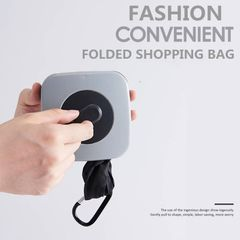 Foldable ECO Grocery Bag Magic Folding Shopping Bag Reusable Recycle Large Capacity Top Handle Bag strip type white one size