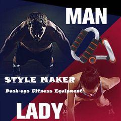 High Quality 2Pcs S-type Steel Push-ups Sporting Goods Push-ups Fitness Equipment Arm Wrist Support
