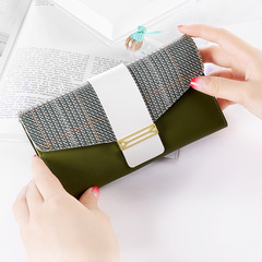Ladies Quality PU Leather Clutch Bag Womens Coin Bag Phone Bag Purse green one size
