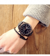Special forces outdoor sports waterproof large dial decorative fashion student watch black belt black disk
