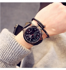 Special forces outdoor sports waterproof large dial decorative fashion student watch coffee belt black