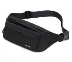 Men's outdoor leisure sports multi-function waterproof waist packs black 33*13*8cm