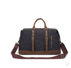 New large-capacity canvas travel bag black 53*31*22.5cm
