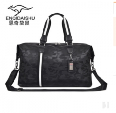 Large-capacity leisure outdoor travel luggage black camouflage 51*30*17cm