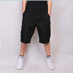 New multi-pocket cotton pants large size pants five points political code men's trousers black 30