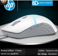 Hp new wired 6D Mouse USB Game Mouse Brand Quality Comfortable feel whie one size