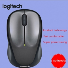 Authentic Logitech Second Generation Photoelectric Wireless Mouse gray as the picture shows