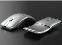 The new mouse is suitable for laptop desktop computer office charging Wireless Mouse silver gray as the picture shows