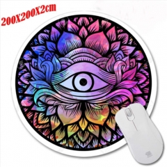 Round Mouse Pad Office Ordinary Mouse Pad Game Mouse Pad 4 as shown