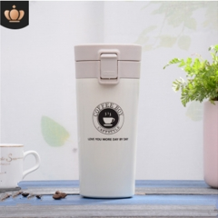 Vacuum Stainless Steel Insulation Cup Travel Coffee Cup - white 380ml