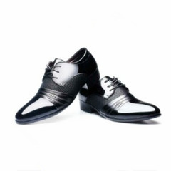 New Men's Lace Leather Shoes Business Formal Leather Shoes black 38