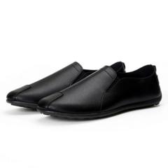 Doudou Men's Shoes British Business Pu Leather Shoes Fashion Men's Leisure Single Shoes black 39