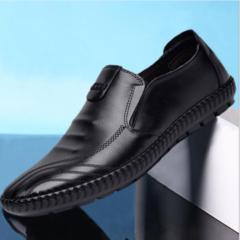 New Light Wear-resistant Business Shoes Air-permeable and Skid-proof Leather Shoes black 38