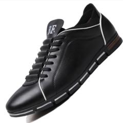 Men's Fashion Korean Edition British Sports Style Leisure Super Size Four Seasons Shoes black 38