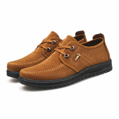 New Men's Shoes Breathable and Skid-proof Father's Casual Shoes light brown 39