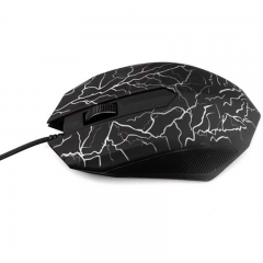 USB Wired Luminous Computer Gaming Mouse LED 3D Shaped Portable Computer Gamer Mouse black wired