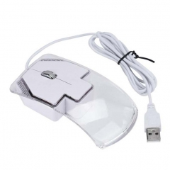 USB LED Game Mouse Ergonomic 1600 DPI Optical 3 Buttons Wired Mice For PC Laptop Computer white wired