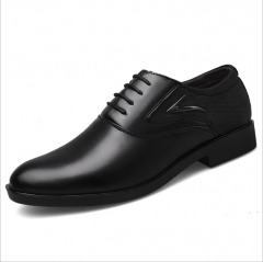 2018 new large size men's casual shoes wild business dress men's shoes set foot wedding shoes black 38