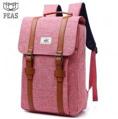 Canvas backpack laptop backpack men's backpack pink M