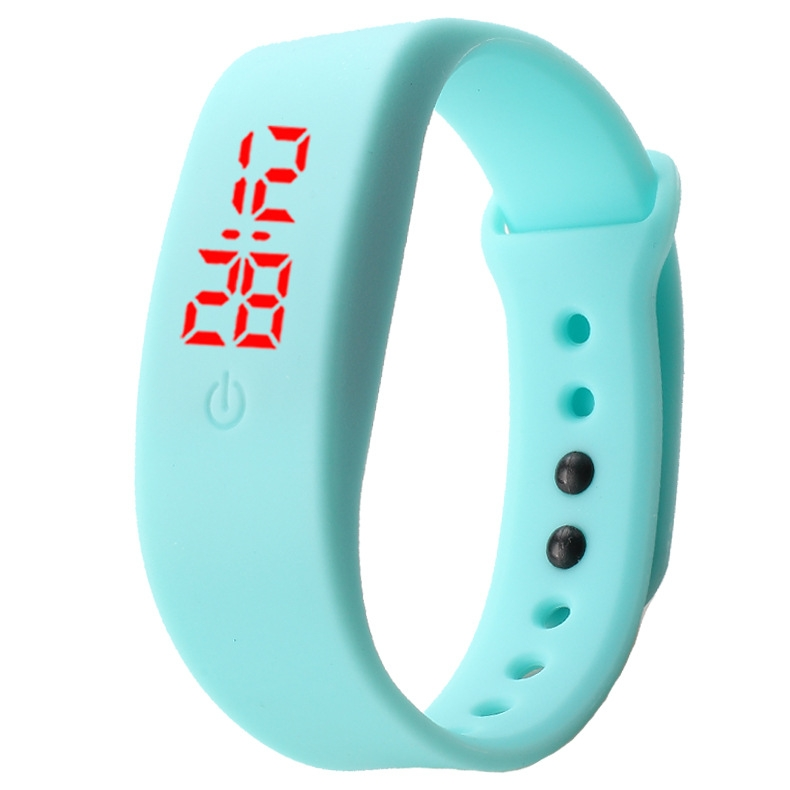 Chong Kai new fashion men and women silicone silicon strap watch sports bracelet digital LED watch yellow 8