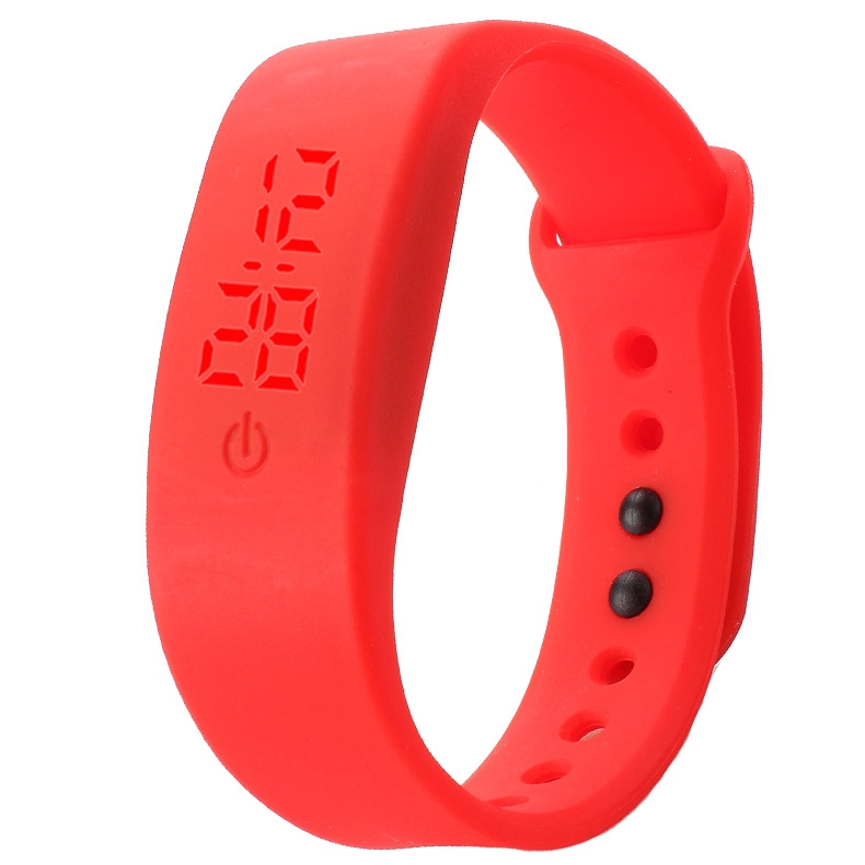 Chong Kai new fashion men and women silicone silicon strap watch sports bracelet digital LED watch yellow 9