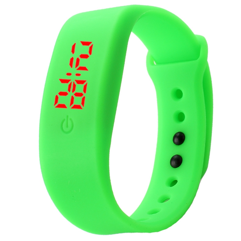 Chong Kai new fashion men and women silicone silicon strap watch sports bracelet digital LED watch yellow 6