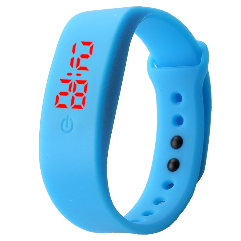 Chong Kai new fashion men and women silicone silicon strap watch sports bracelet digital LED watch yellow 5