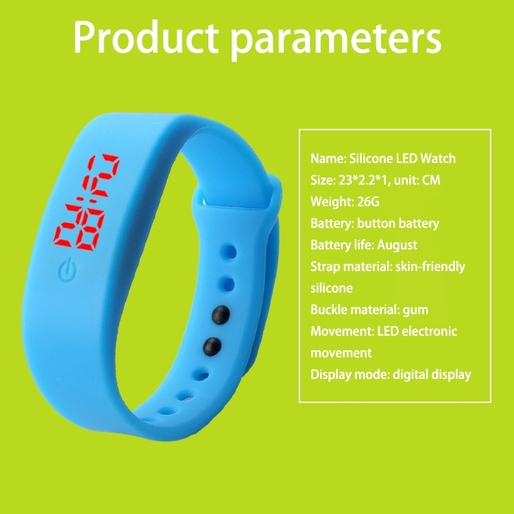 Chong Kai new fashion men and women silicone silicon strap watch sports bracelet digital LED watch yellow 1