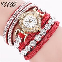Women's Fashion Watch Quartz Wristwatches Bracelet Fashion Accessory Gift Men Women 14-26cm red