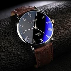 Mens Watches Luxury Men Fashion Business Quartz watch clock Male WristWatches Valentines Gift black brown