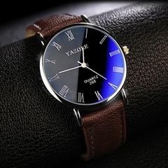 Mens Watches Luxury Men Fashion Business Quartz watch clock Male WristWatches Valentines Gift black brown