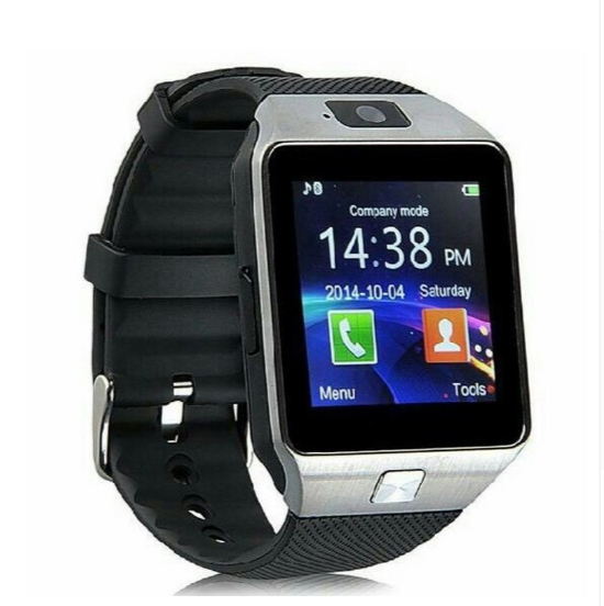 Smart Watch DZ09 Android Phone TF Sim Card Camera Men Women Sport Wristwatch with Packing Box silver
