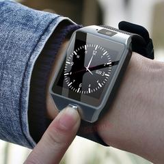 Smart Watch DZ09 Android Phone TF Sim Card Camera Men Women Sport Wristwatch with Packing Box black