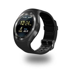 Bluetooth Y1 Smart Watch Relogio Android SmartWatch Phone Call GSM Remote Display Sports Pedometer black