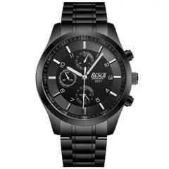 Bosck Men Brand Sports Watch Stainless Steel Watchband Waterproof Male Quartz Watch Black