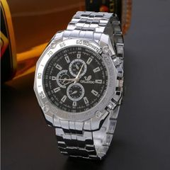 Fashion Wrist Watch Men Male Luxury Quartz Stainless Steel Wristwatches Gentlemen Valentines Gift black