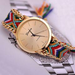 Women Watches Casual Quartz Clock Rope Bracelets Watches 1