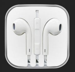 In-ear headphones with a microphone stereo headsets apple android white white white