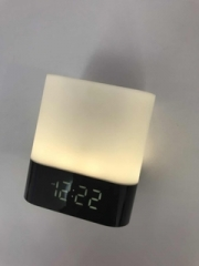 Cuboid LED Mini Wireless Bluetooth Portable Speaker Subwoofer Alarm Clock Stereo white white normal