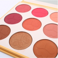 9-color blush-pink foundation profile repair capacity base beaded sublight as shown in the figure