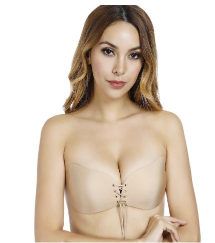 3f16e07cbda Invisible bra gathering underwear wedding dress silicone breasts ...